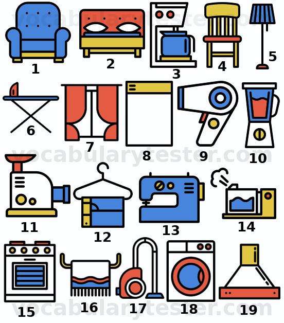 Home appliances vocabulary